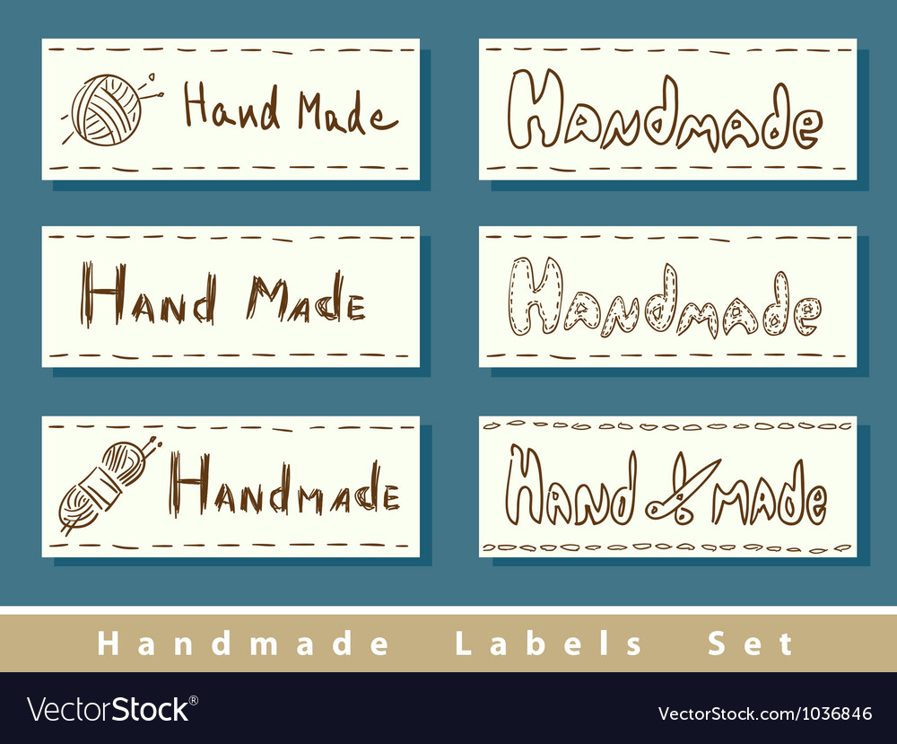 Handmade labels vector | Price: 1 Credit (USD $1)