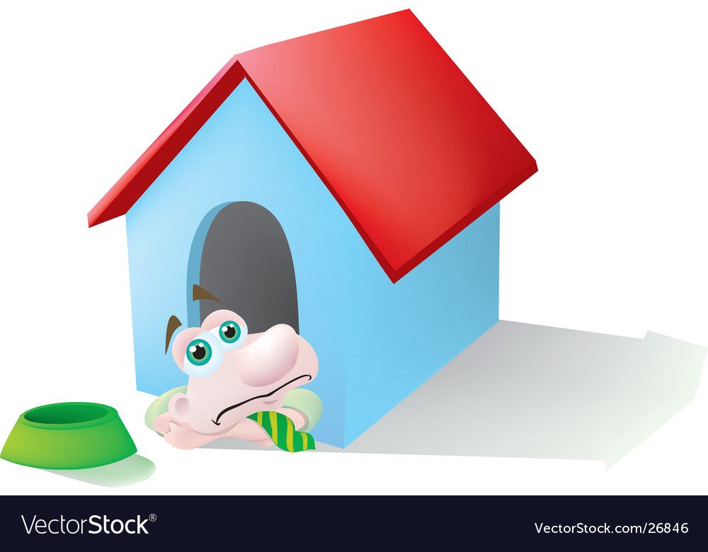 In the doghouse vector | Price: 1 Credit (USD $1)
