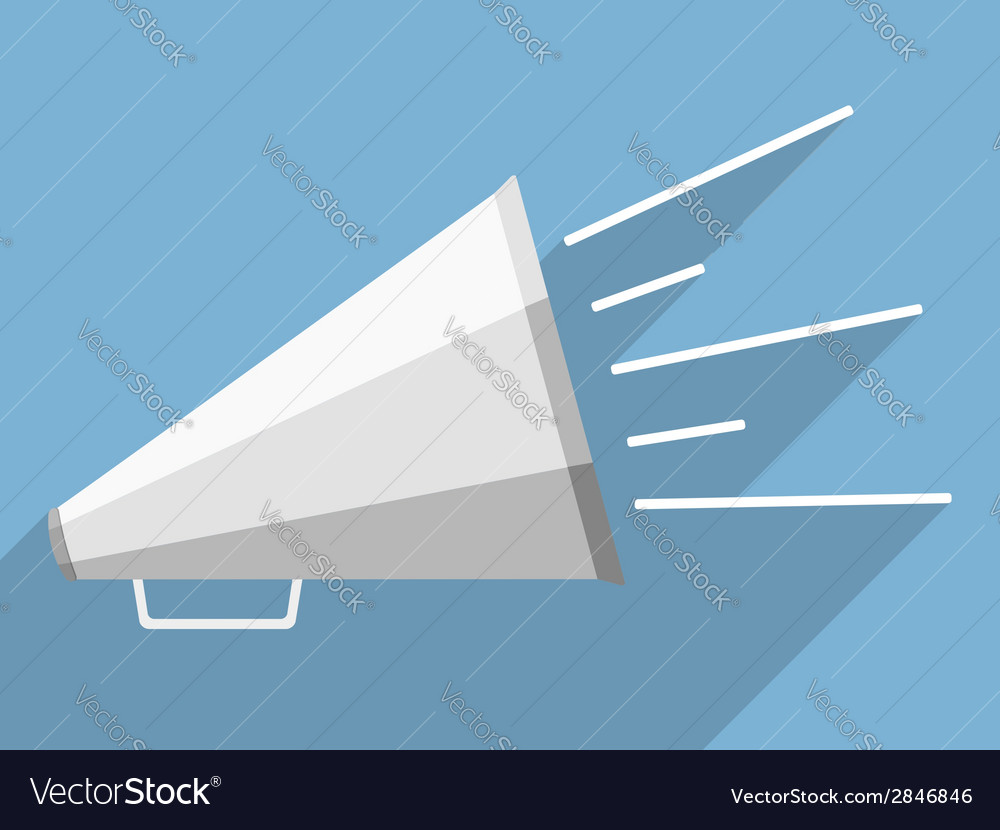 Megaphone vector | Price: 1 Credit (USD $1)