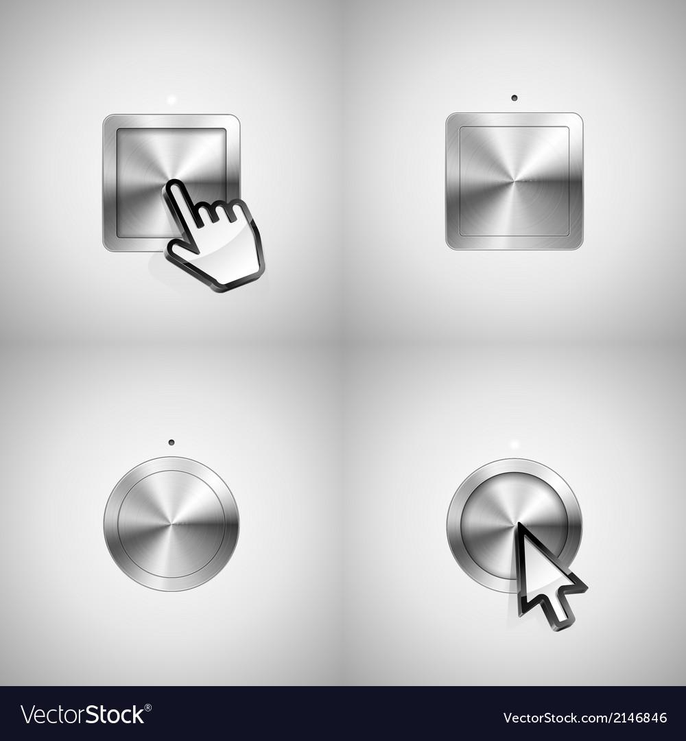 Metallic buttons vector | Price: 1 Credit (USD $1)