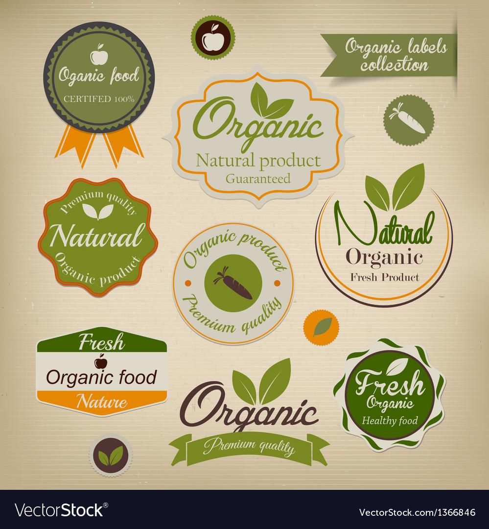 Organic labels vector | Price: 3 Credit (USD $3)