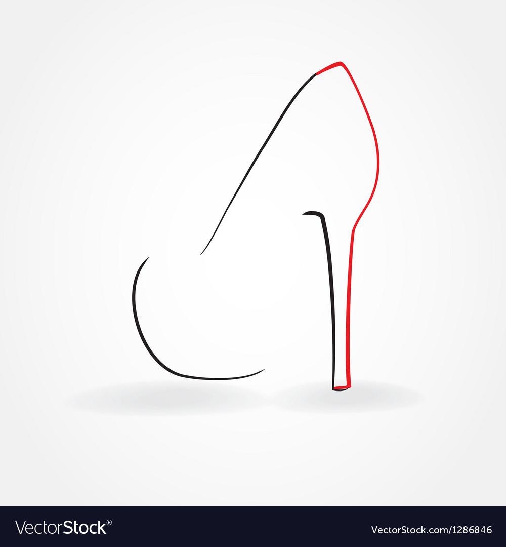Pump shoe silhouette vector | Price: 1 Credit (USD $1)