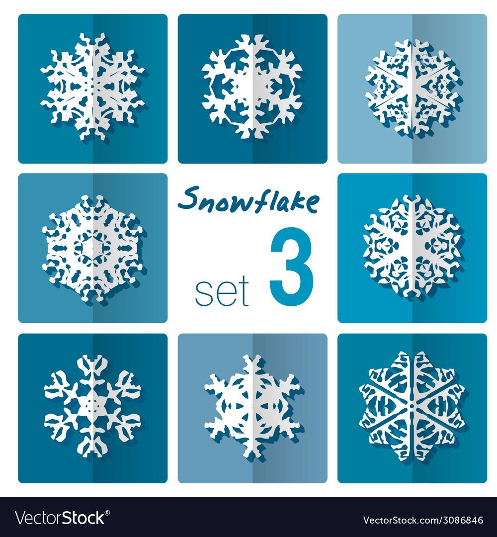 Snowflake icon winter theme winter snowflakes of vector   Price: 1 Credit (USD $1)