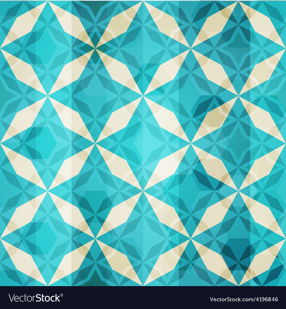 Vintage blue mosaic star seamless vector | Price: 1 Credit (USD $1)
