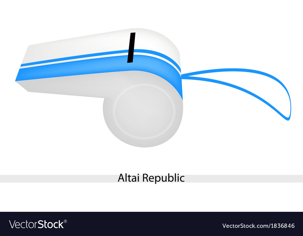 White and blue stripe on altai republic whistle vector | Price: 1 Credit (USD $1)