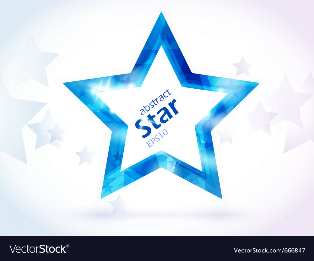 Abstract blue star vector | Price: 1 Credit (USD $1)