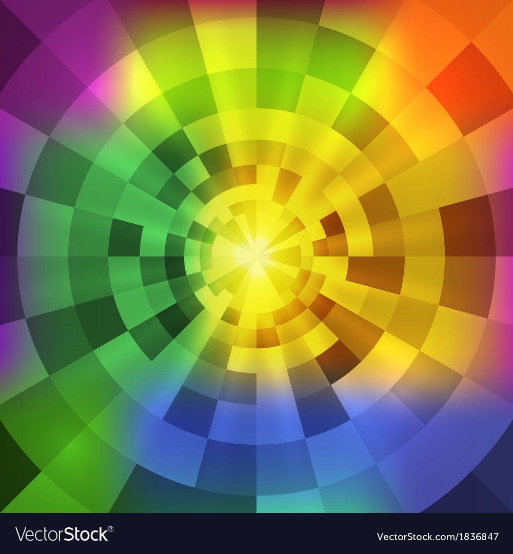 Abstract radiant multicolor tunnel background vector | Price: 3 Credit (USD $3)