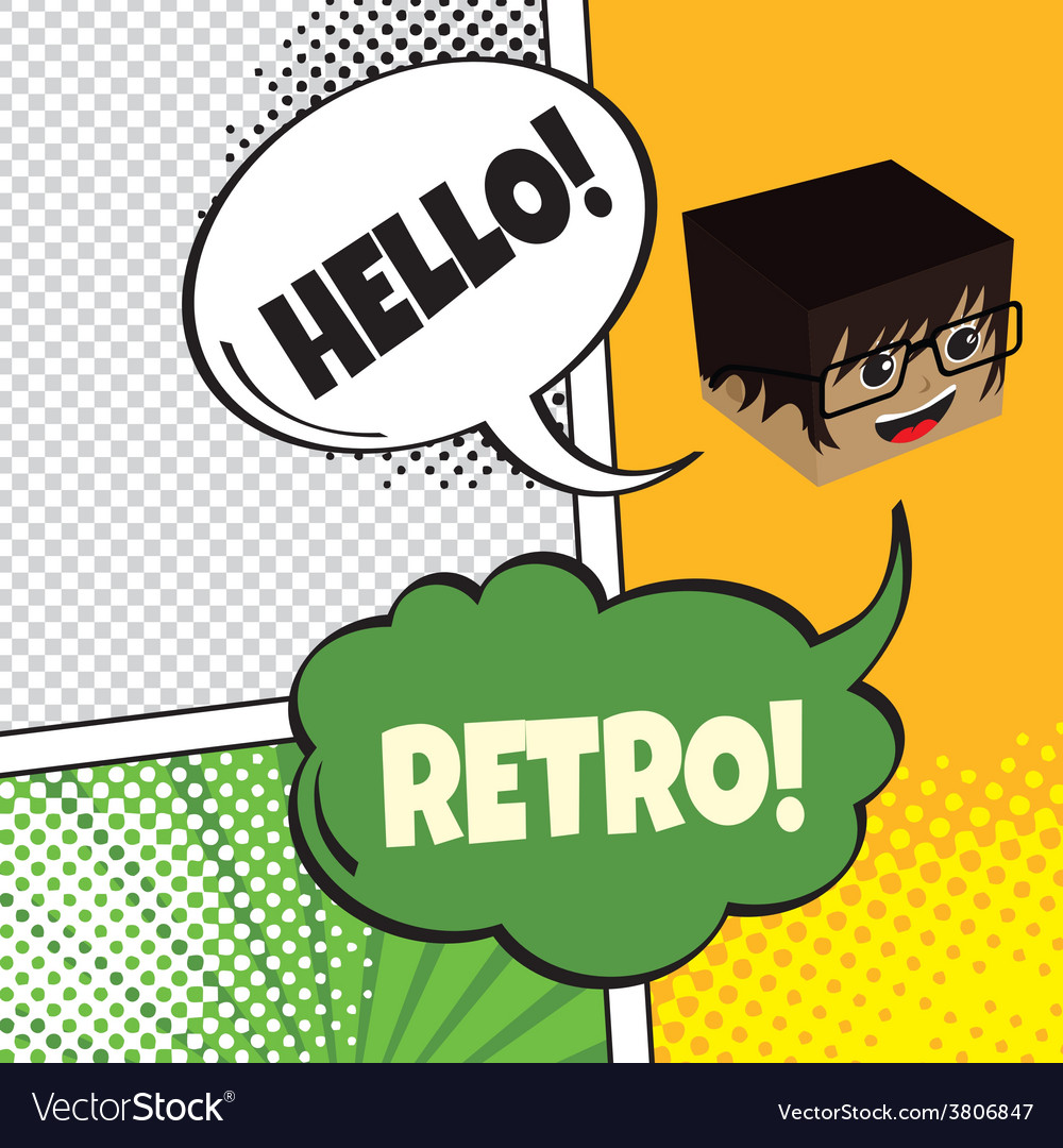 Comic template element with speech bubble and vector   Price: 1 Credit (USD $1)