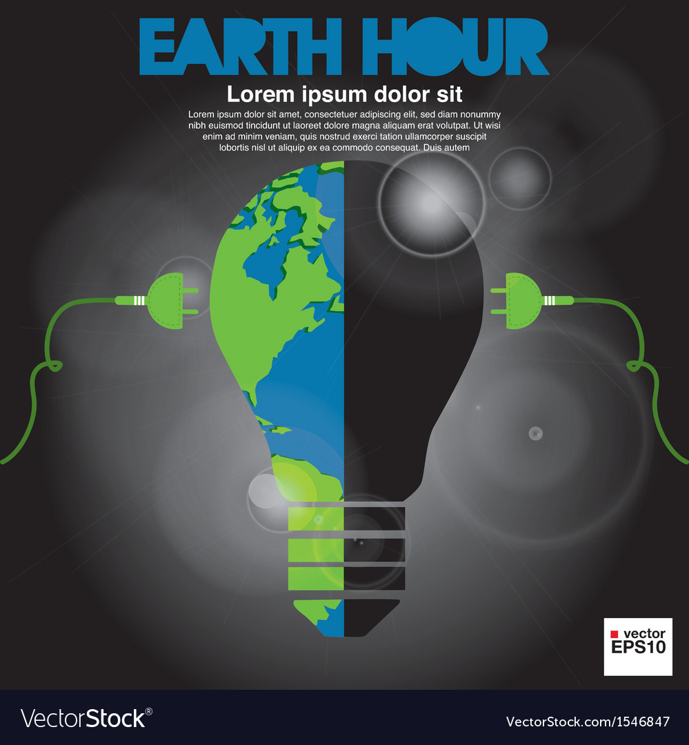 Earth hour conceptual eps10 vector | Price: 1 Credit (USD $1)