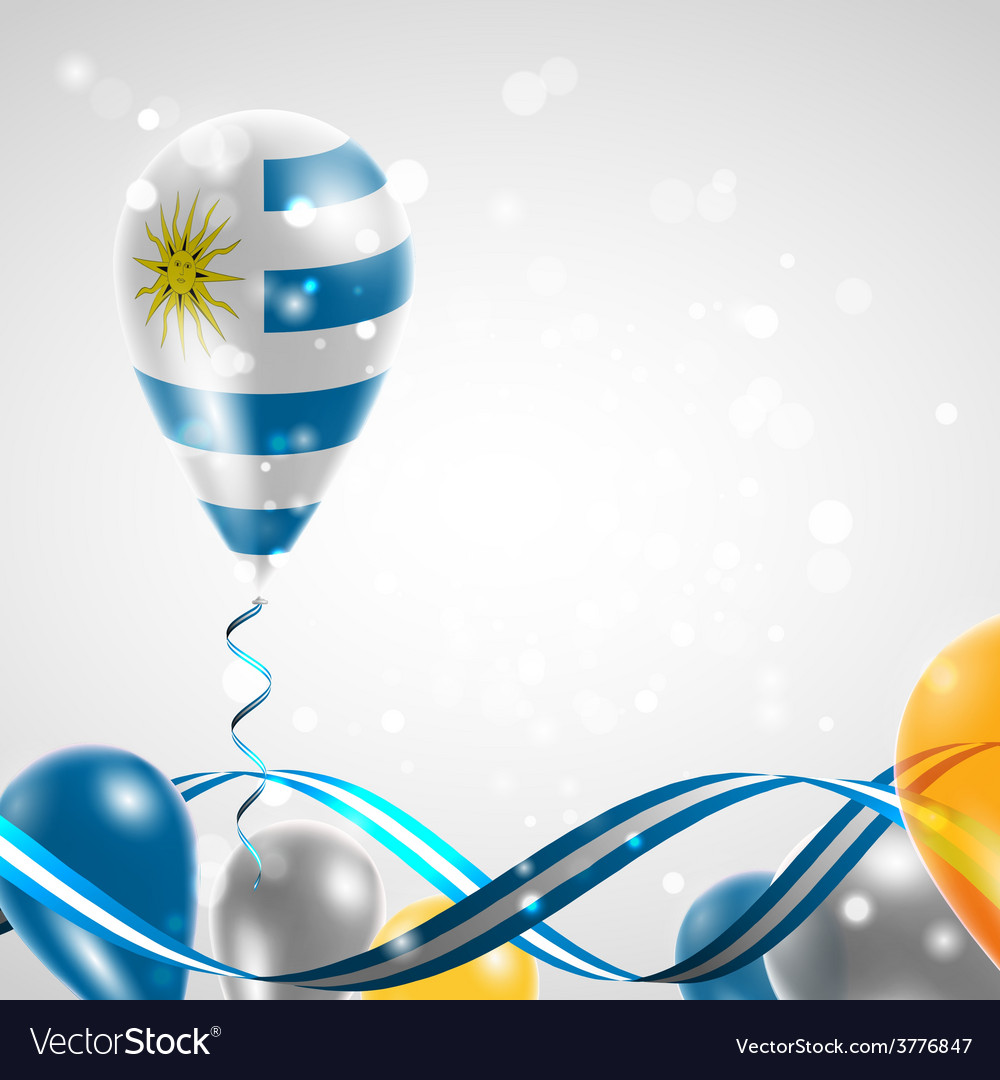 Flag of uruguay on balloon vector | Price: 3 Credit (USD $3)