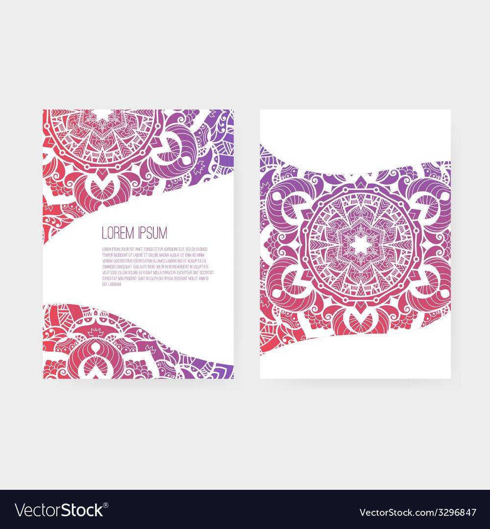 Greeting card ornamental set vector | Price: 1 Credit (USD $1)