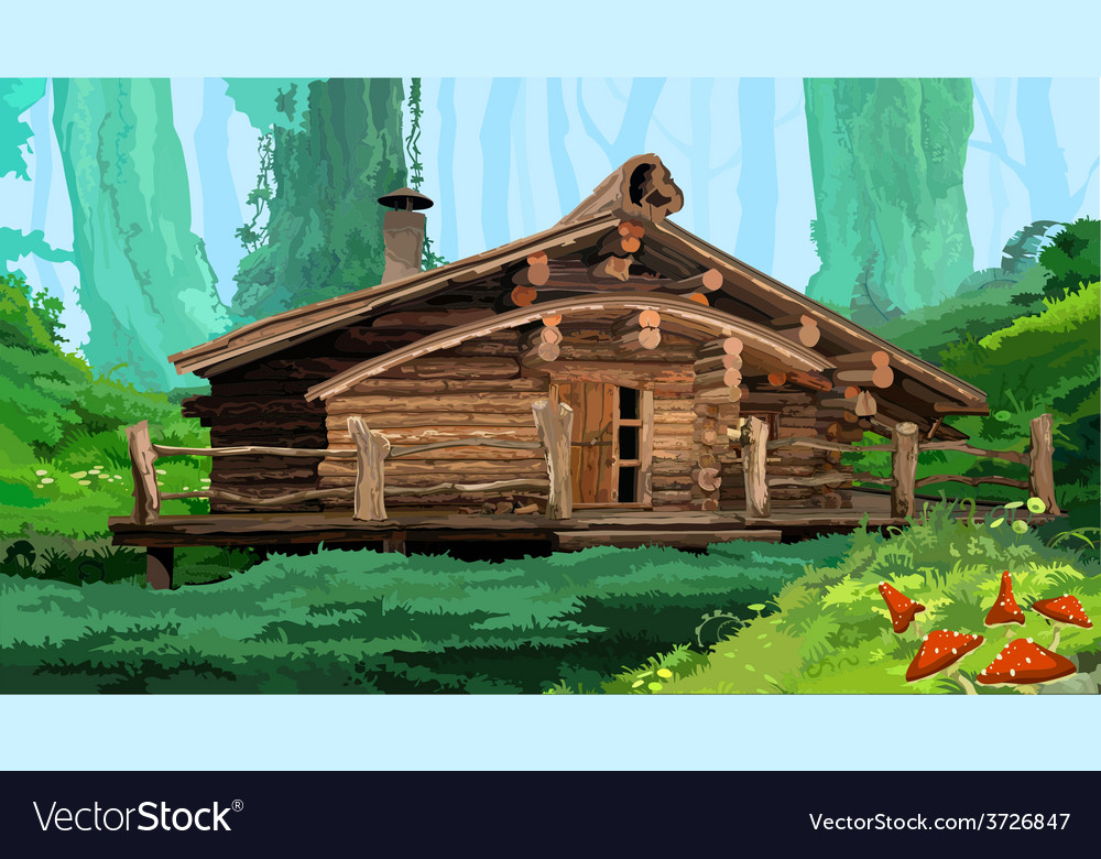 Hut in the woods vector | Price: 3 Credit (USD $3)