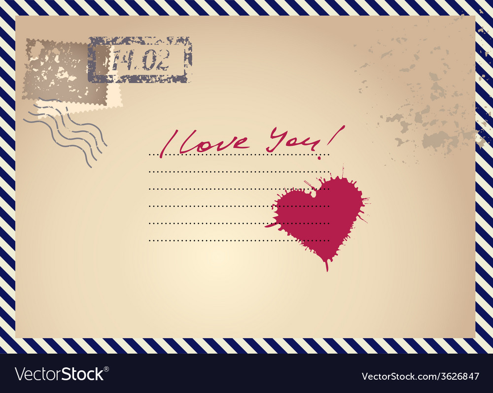 Imitation postcar with heart vector | Price: 1 Credit (USD $1)