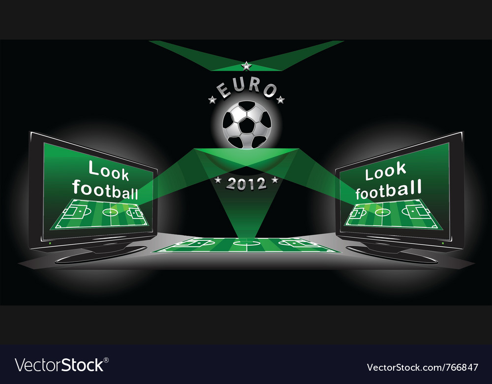 Poster for advertising demonstration football vector | Price: 1 Credit (USD $1)