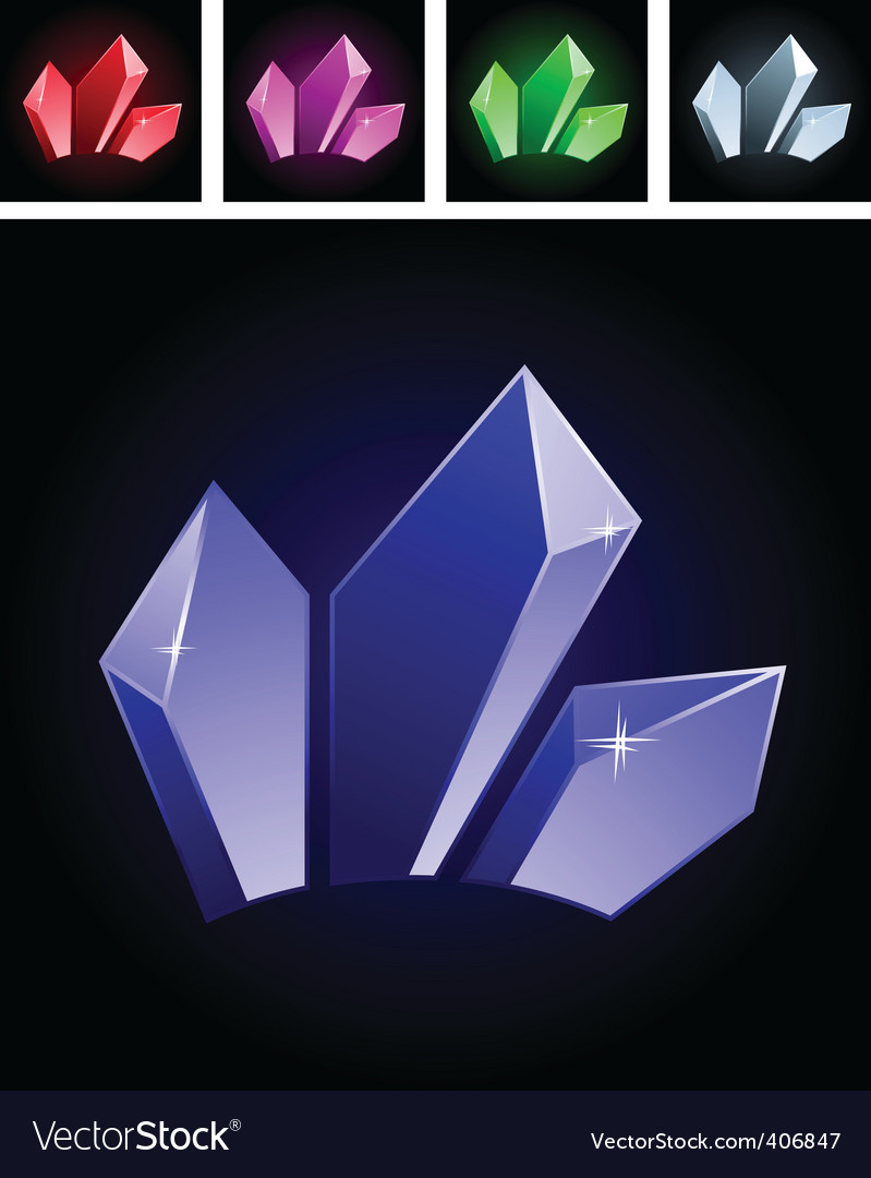 Stylized gems vector | Price: 1 Credit (USD $1)