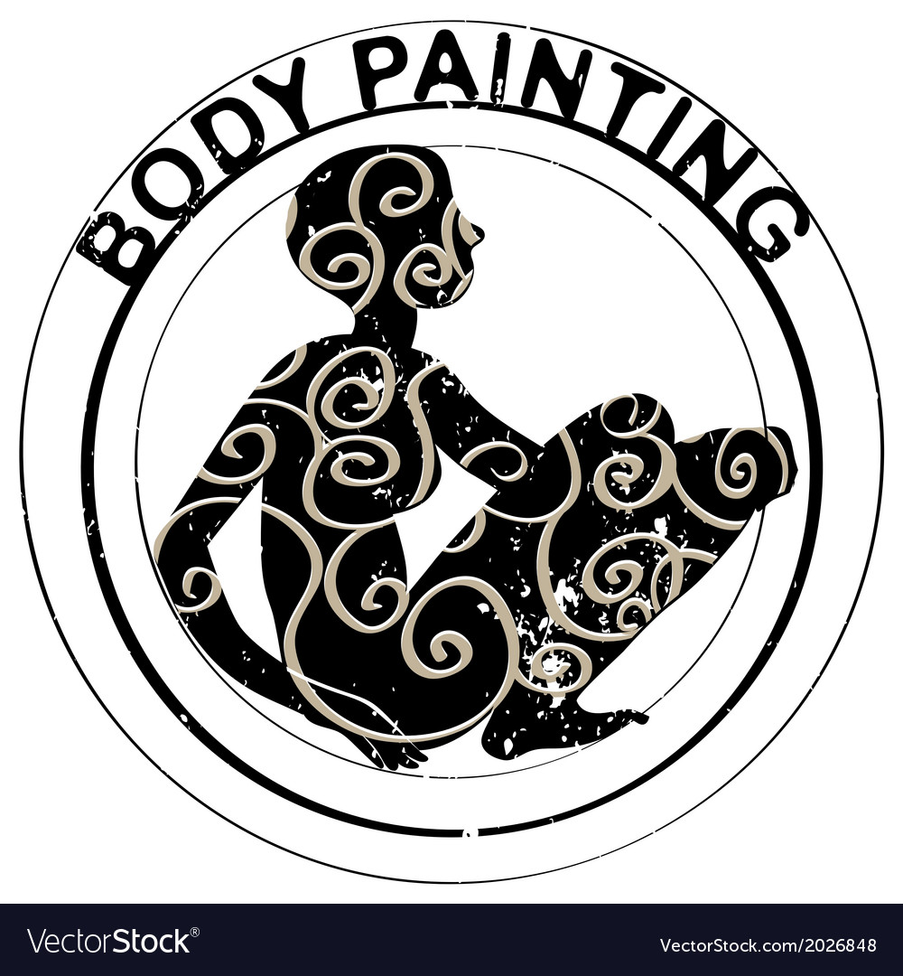 Body painting stamp vector | Price: 1 Credit (USD $1)