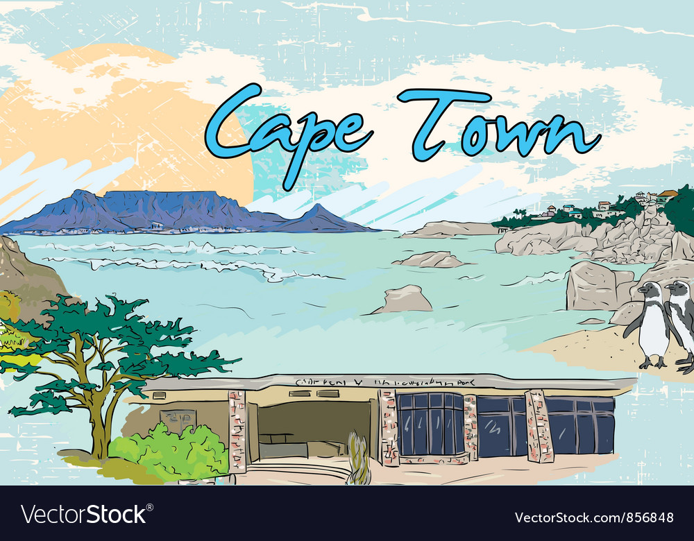 Cape town doodles vector | Price: 3 Credit (USD $3)