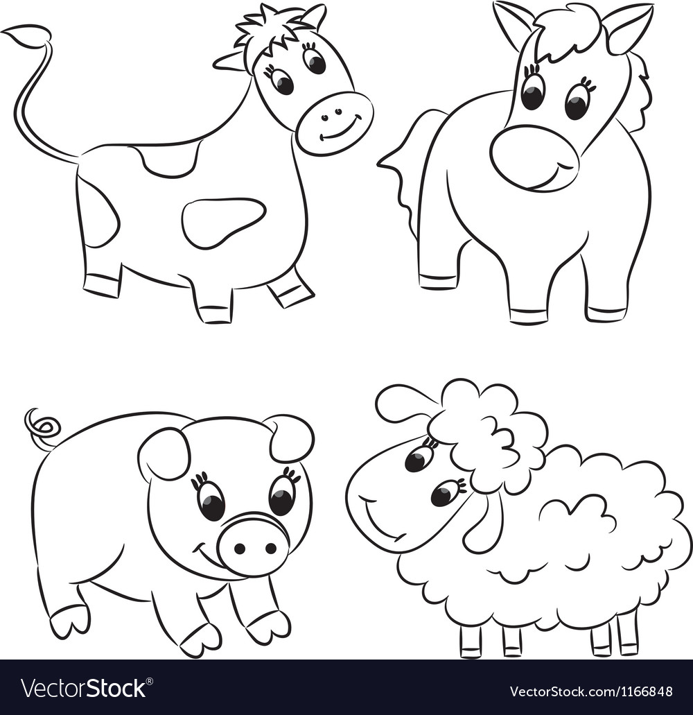 Cartoon domesticated animal vector | Price: 1 Credit (USD $1)