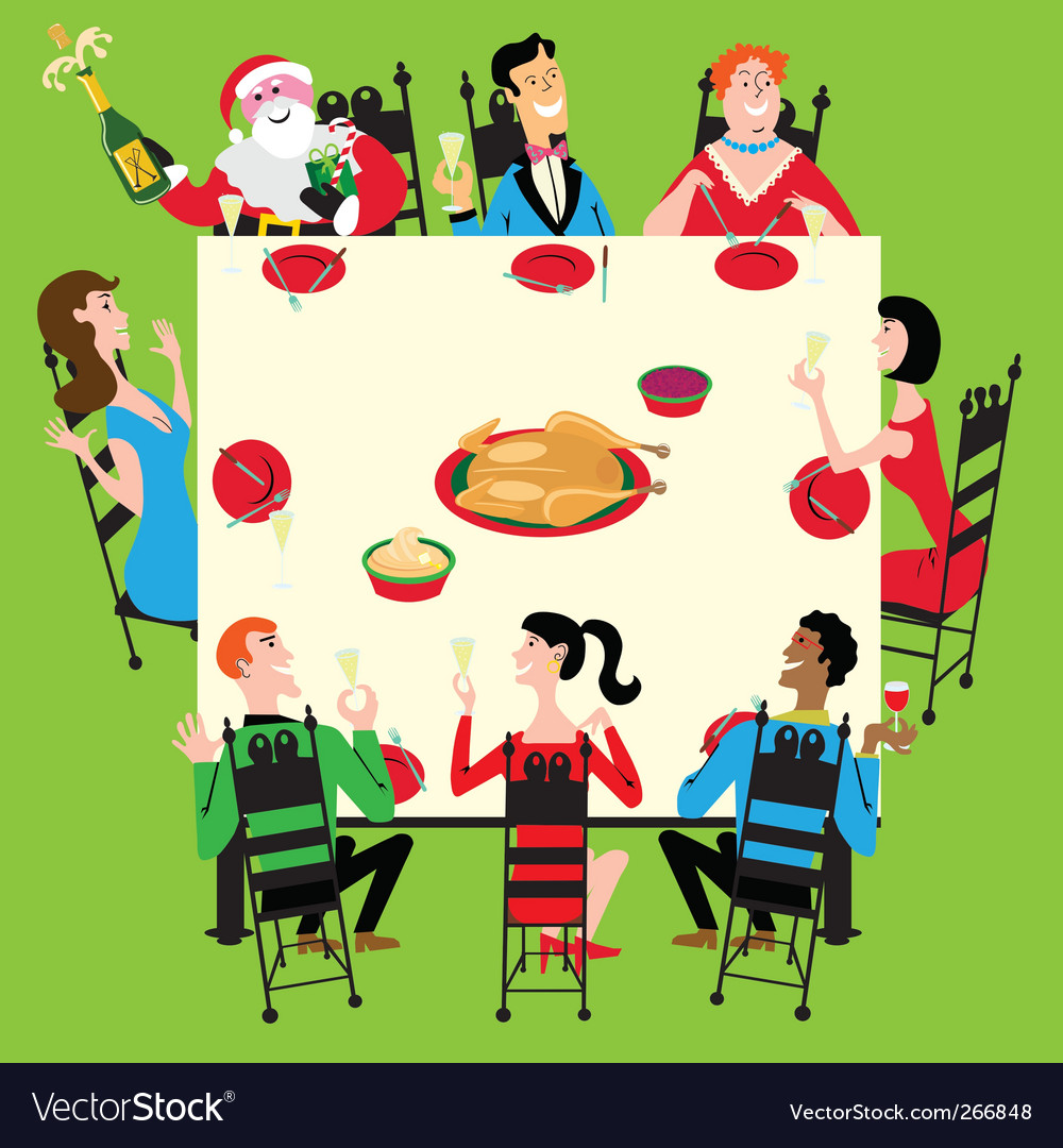 Christmas dinner vector | Price: 3 Credit (USD $3)