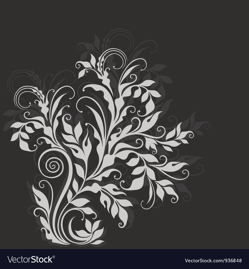 Elegant decorative floral vector | Price: 1 Credit (USD $1)