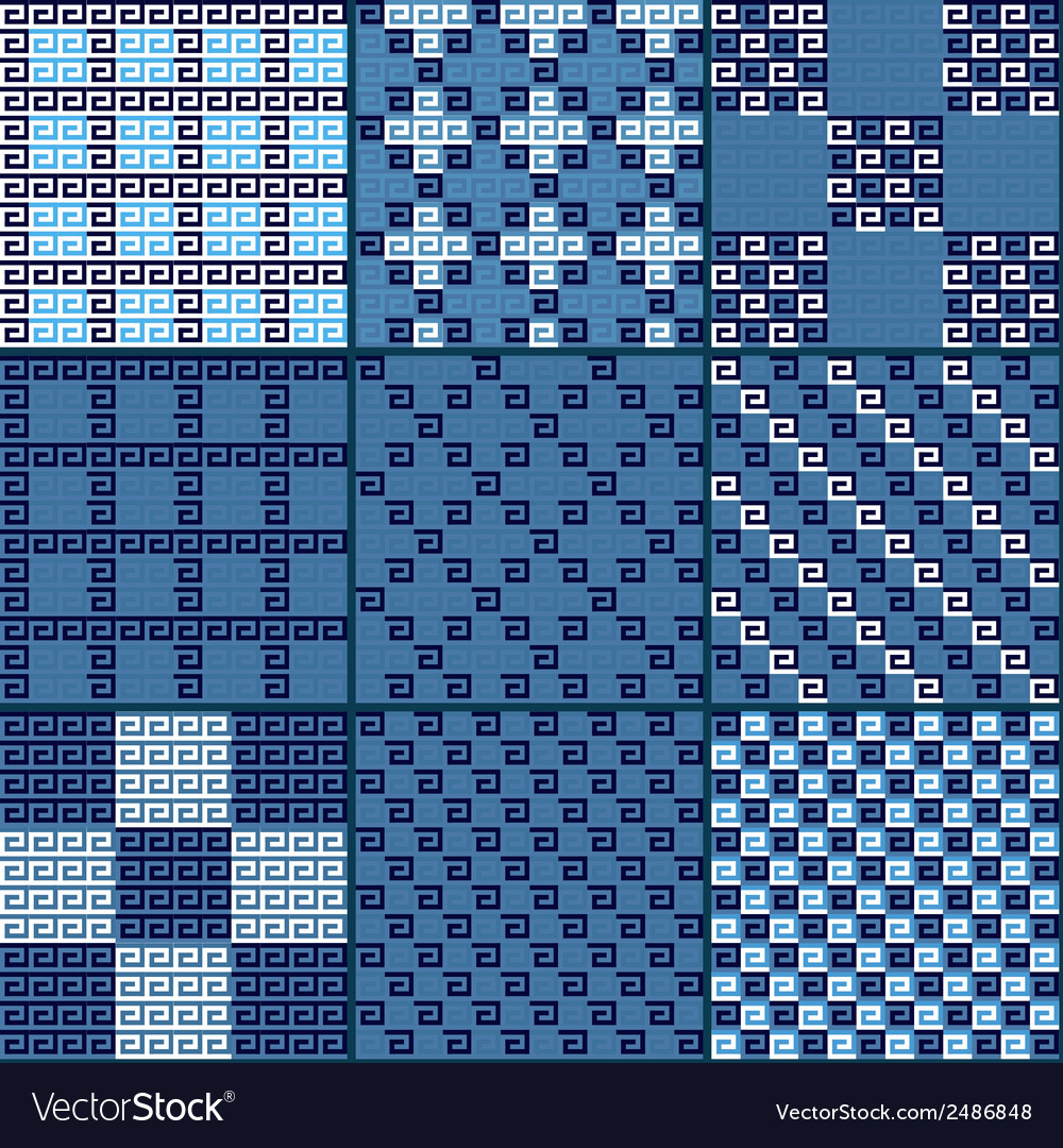 Greek patterns vector | Price: 1 Credit (USD $1)