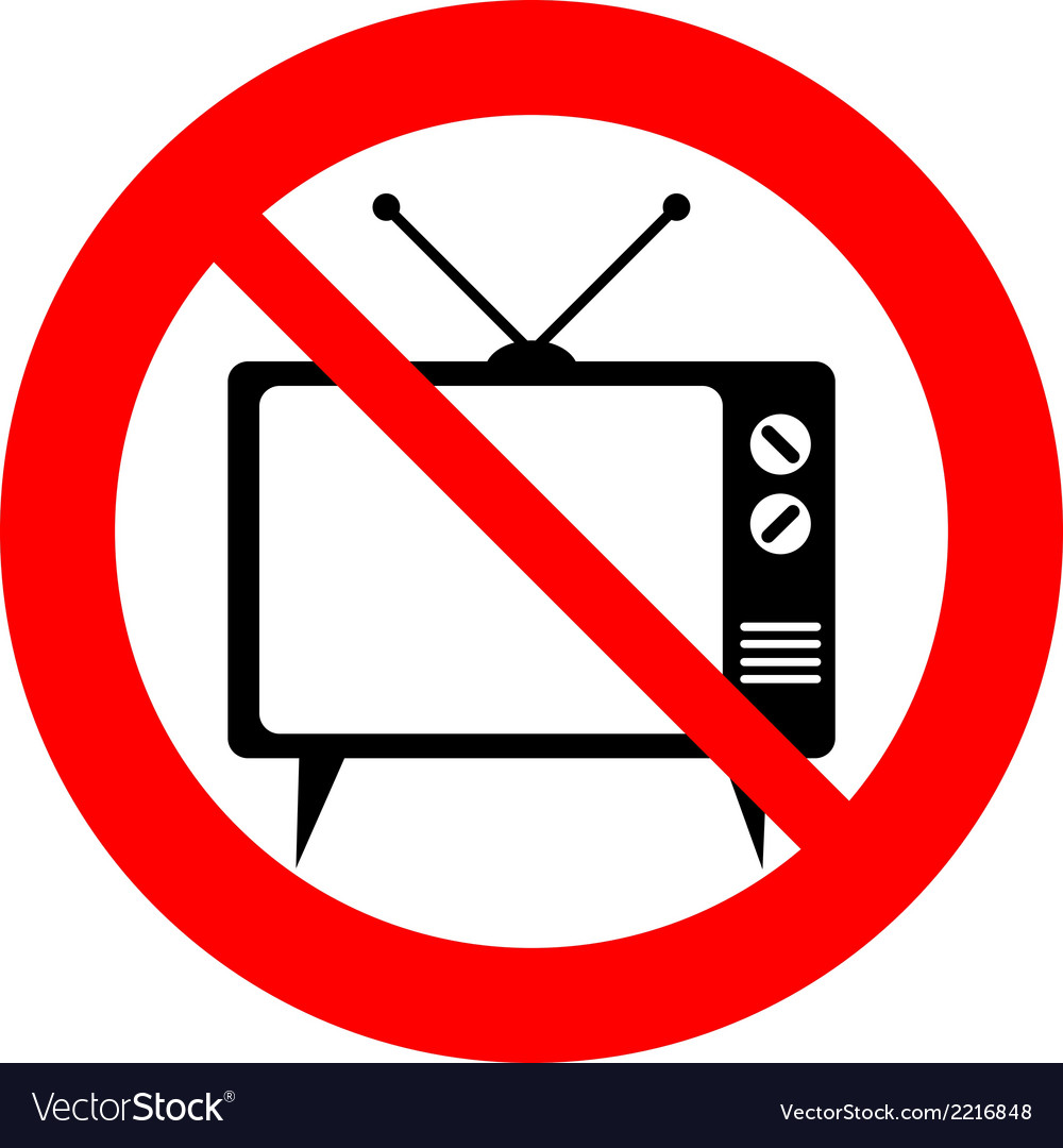 No tv sign vector | Price: 1 Credit (USD $1)