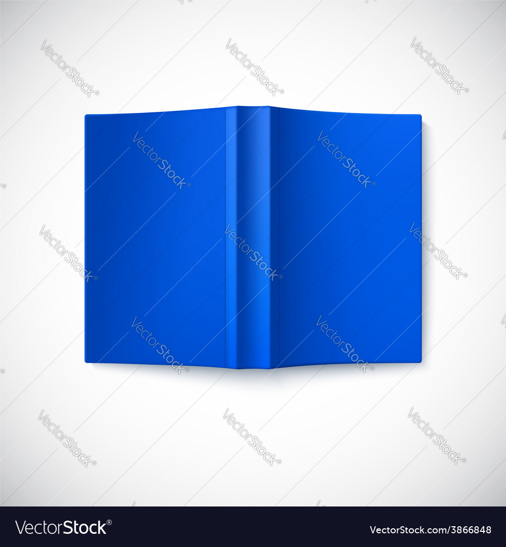 Open blank book cover top view vector | Price: 1 Credit (USD $1)