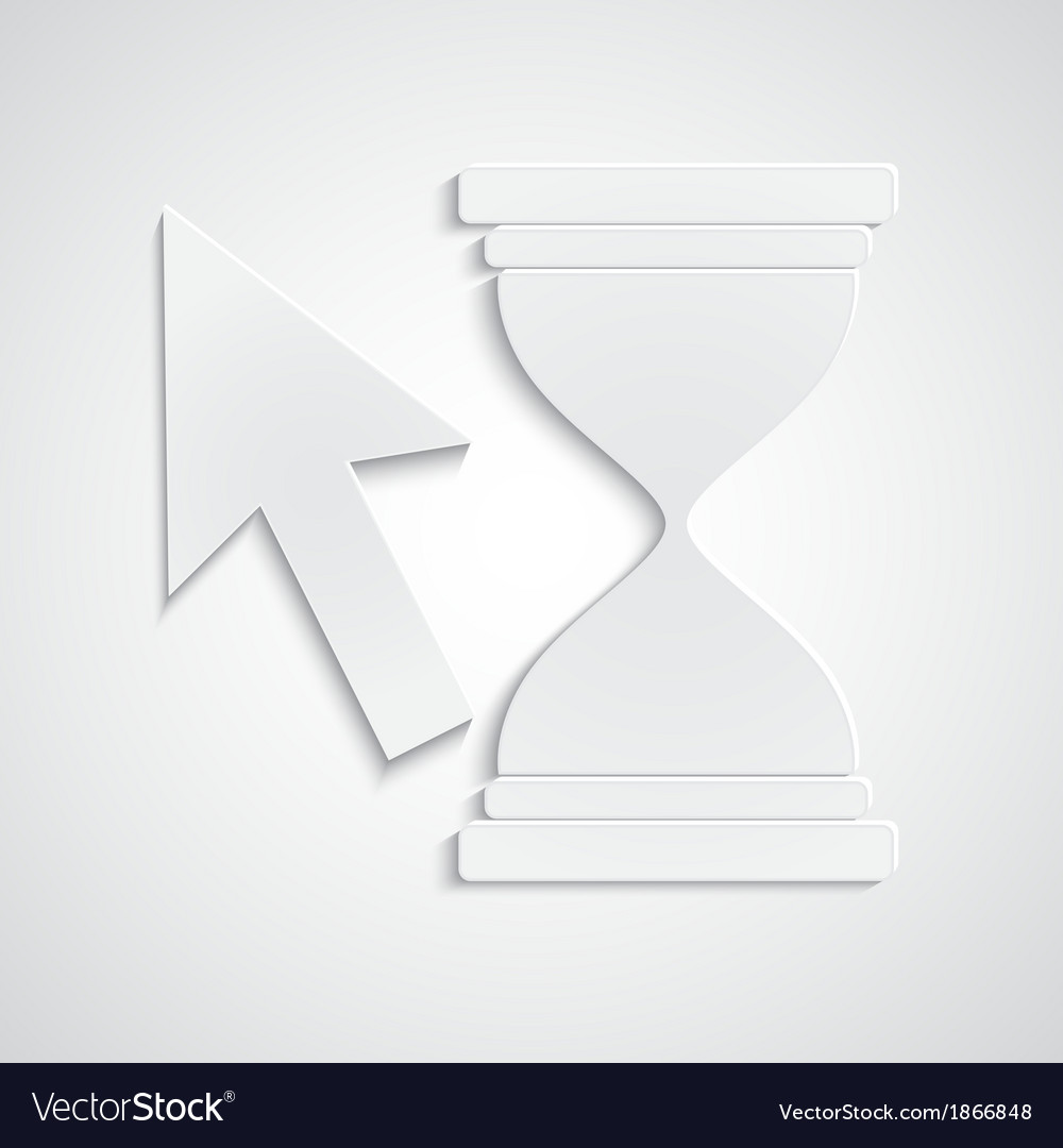 Paper cursor with hourglass vector | Price: 1 Credit (USD $1)