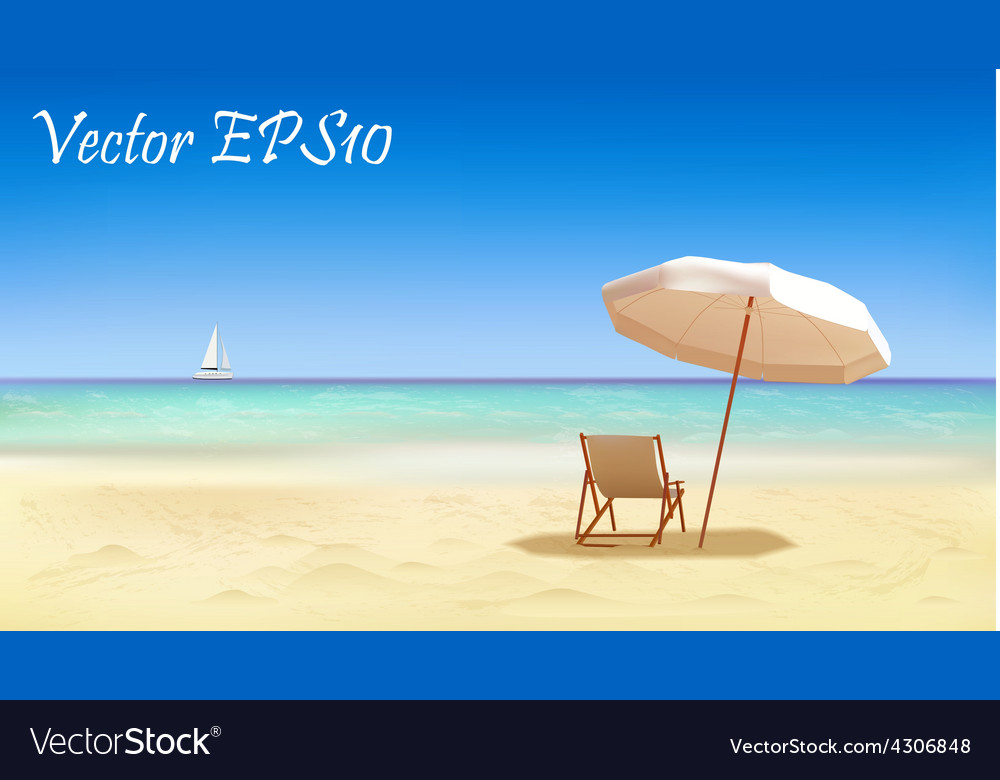 Seaside view background vector | Price: 1 Credit (USD $1)