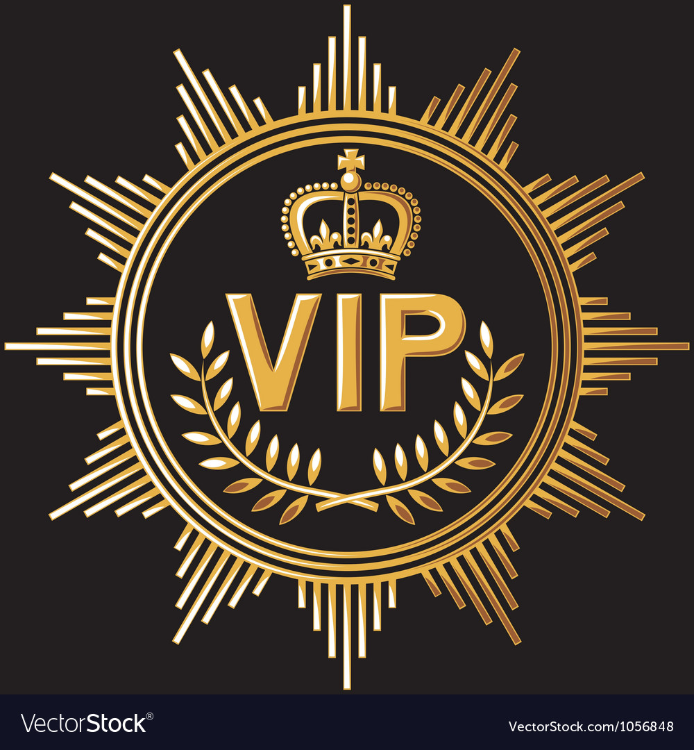 Vip design - very important person sign vector | Price: 1 Credit (USD $1)