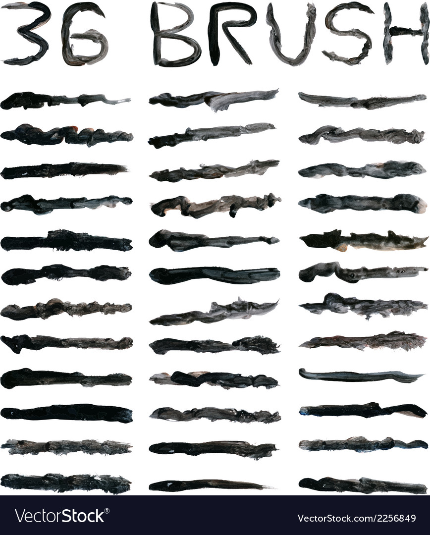 Black dirty brushes vector | Price: 1 Credit (USD $1)