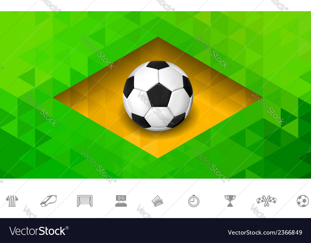 Brasil flag triangle vector | Price: 1 Credit (USD $1)