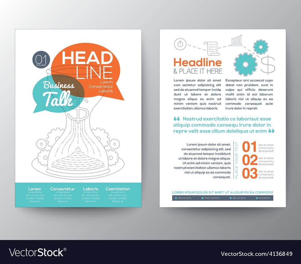 Brochure flyer design layout template vector | Price: 1 Credit (USD $1)