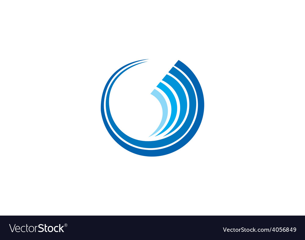 Circle wave geometry communication technology logo vector | Price: 1 Credit (USD $1)