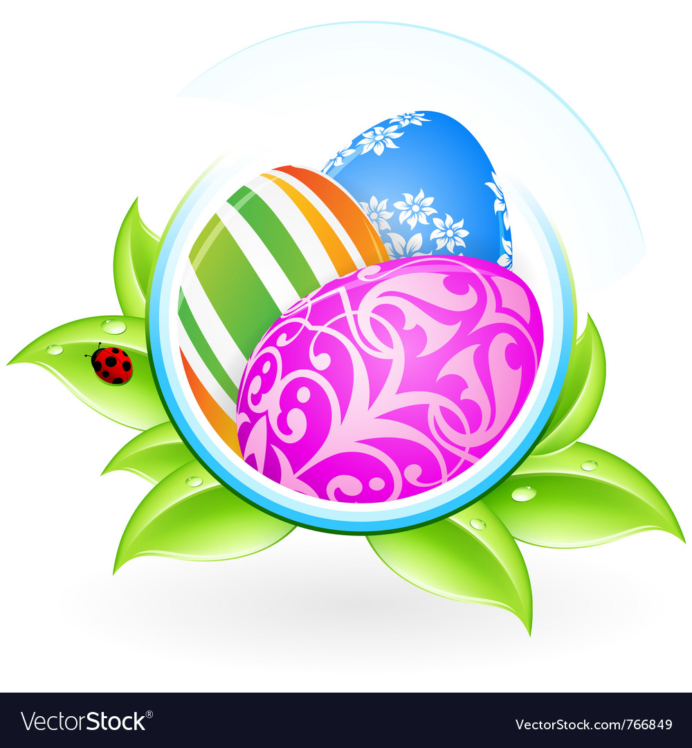 Easter eggs frame vector | Price: 3 Credit (USD $3)