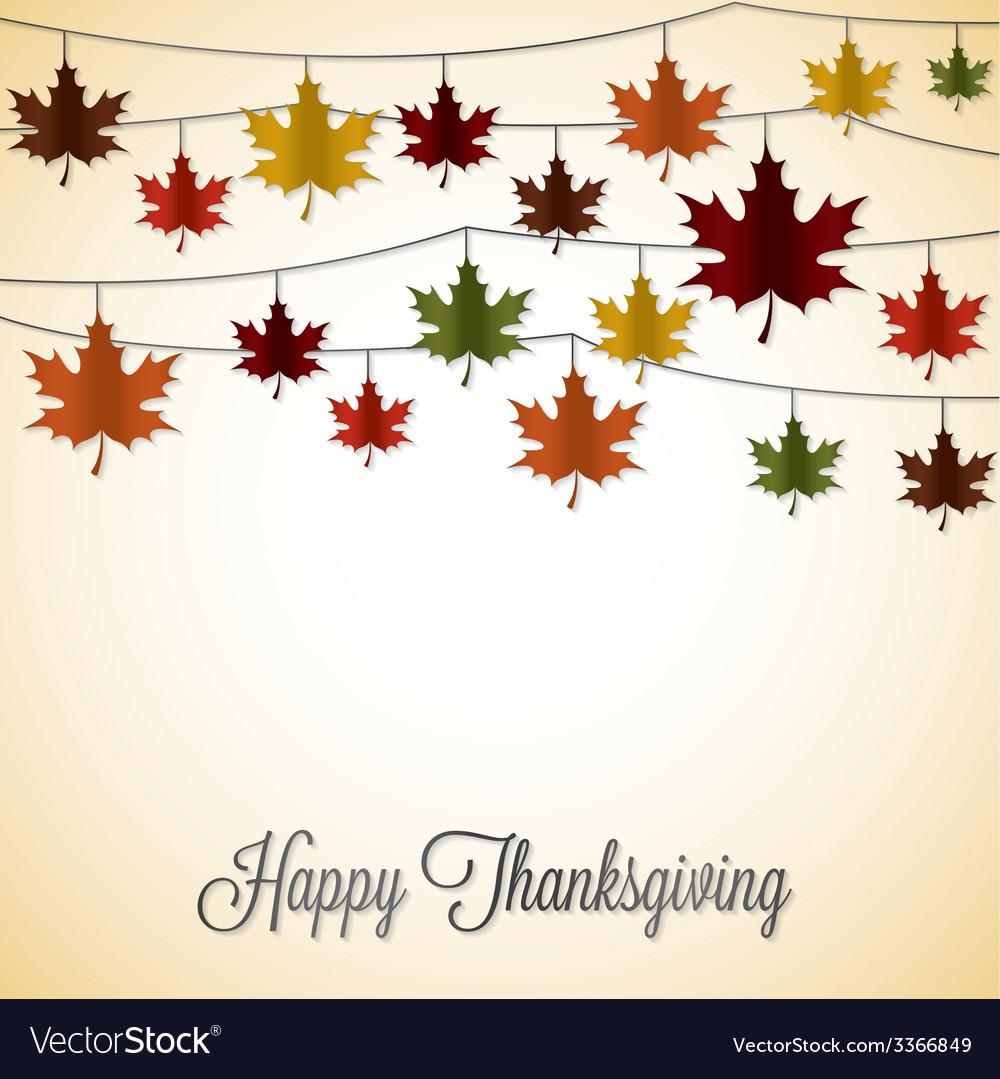 Elegant string thanksgiving card in format vector | Price: 1 Credit (USD $1)