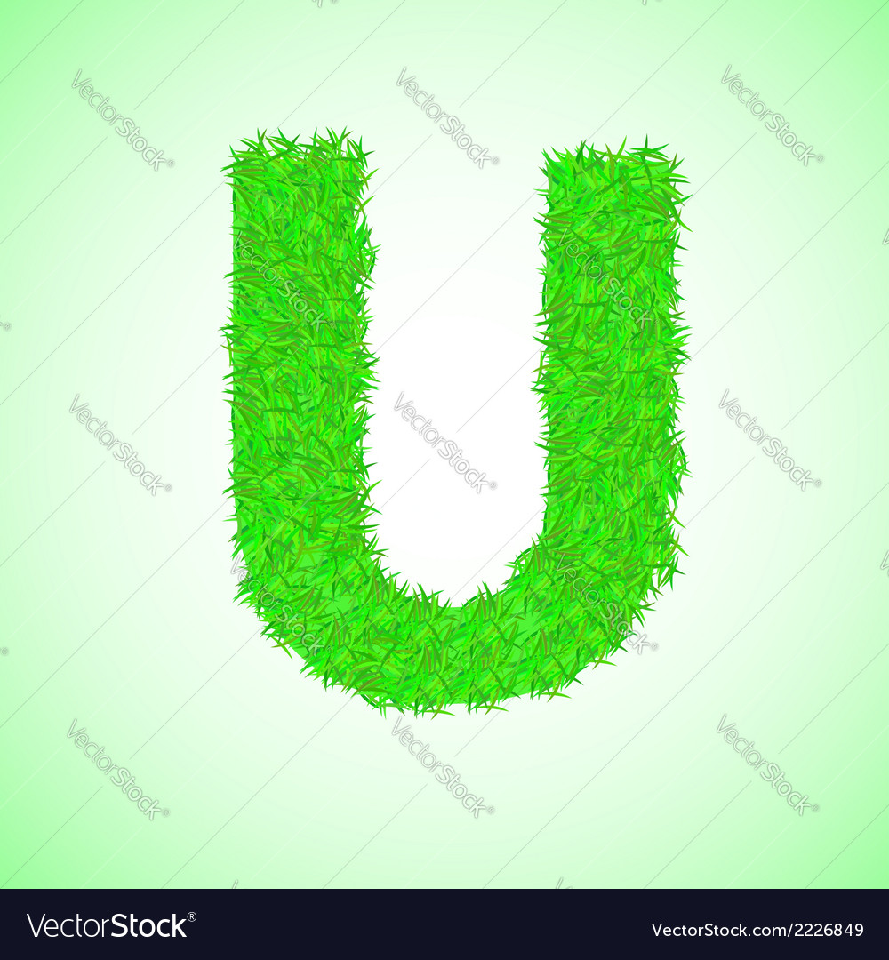 Grass letter u vector | Price: 1 Credit (USD $1)