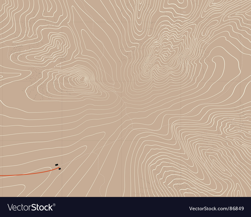 Mountain contours vector | Price: 1 Credit (USD $1)