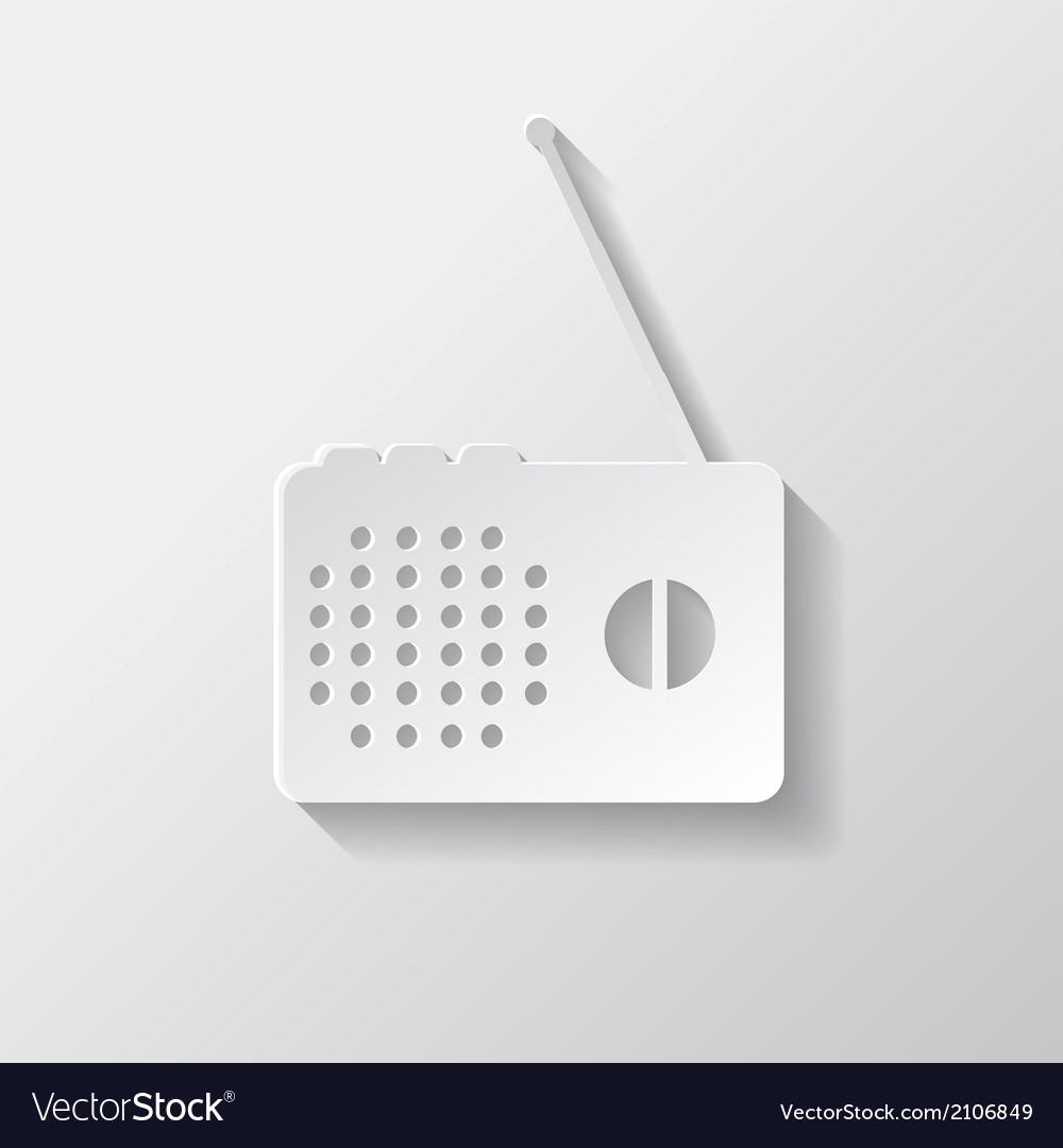 Radio web icon vector | Price: 1 Credit (USD $1)