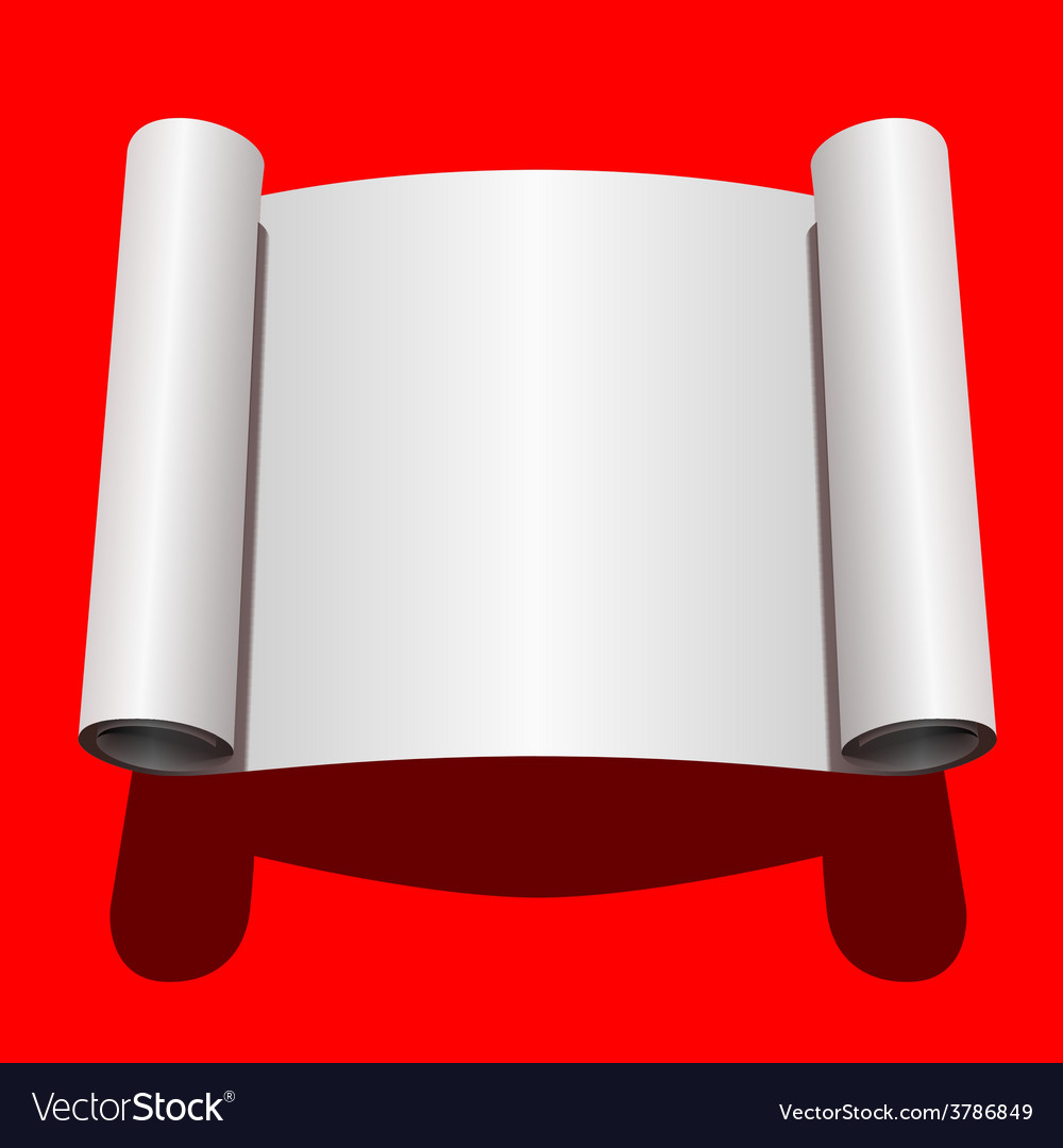 Roll of blank white paper vector   Price: 1 Credit (USD $1)