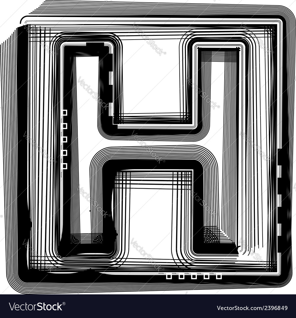 Striped font letter h vector   Price: 1 Credit (USD $1)