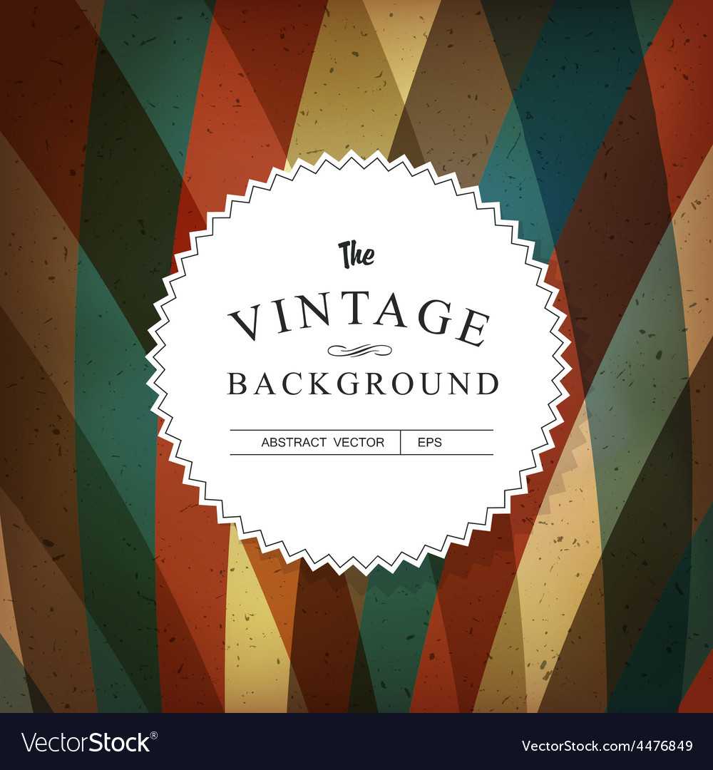 Vintage background template vector | Price: 1 Credit (USD $1)