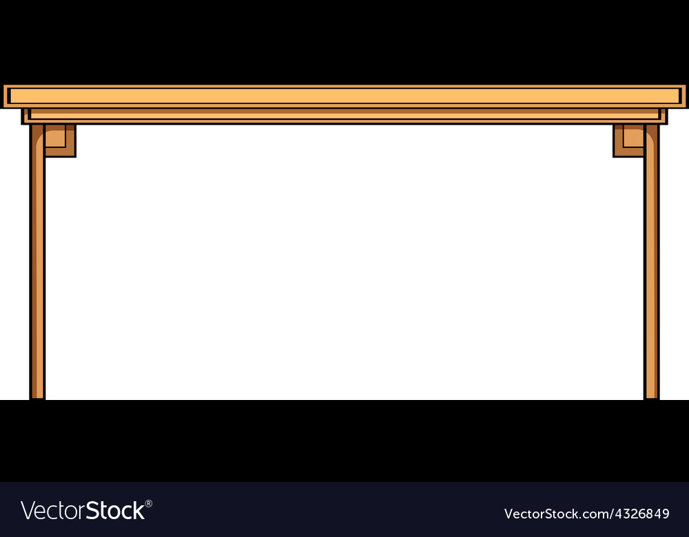 Wooden table vector | Price: 1 Credit (USD $1)