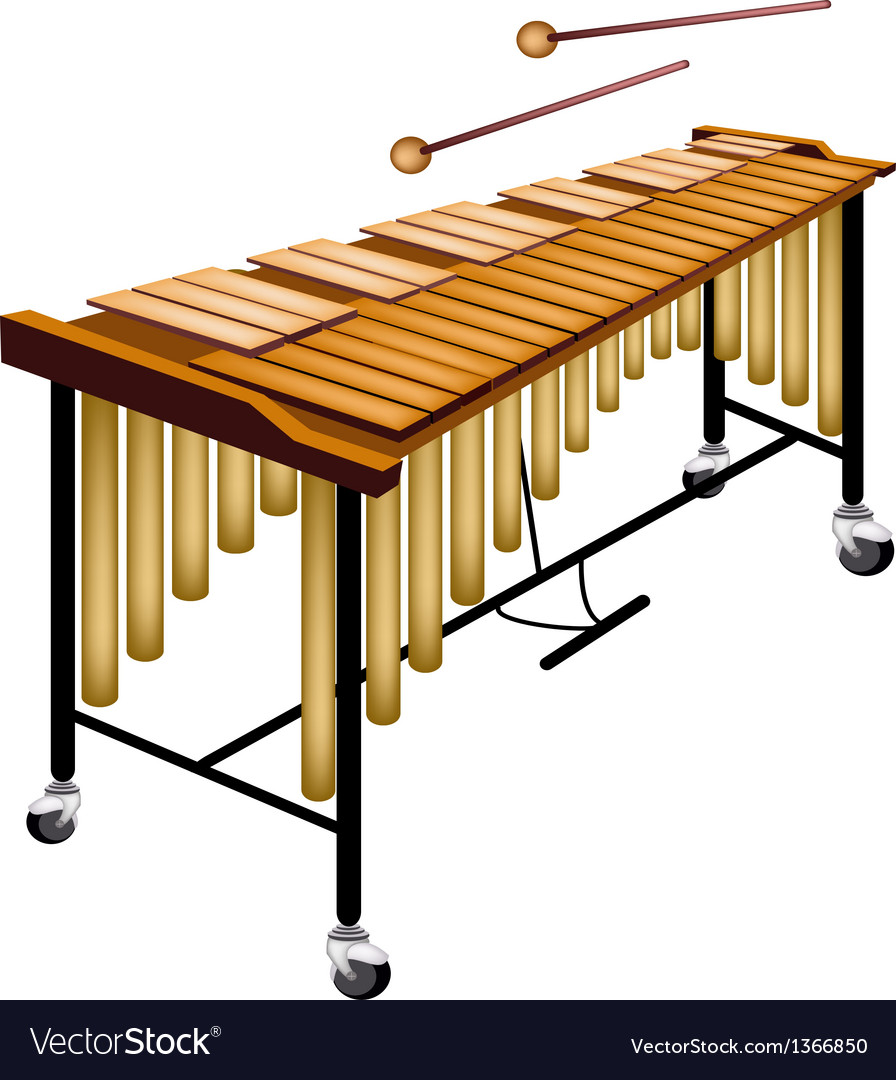 A musical vibraphone isolated on white background vector | Price: 1 Credit (USD $1)