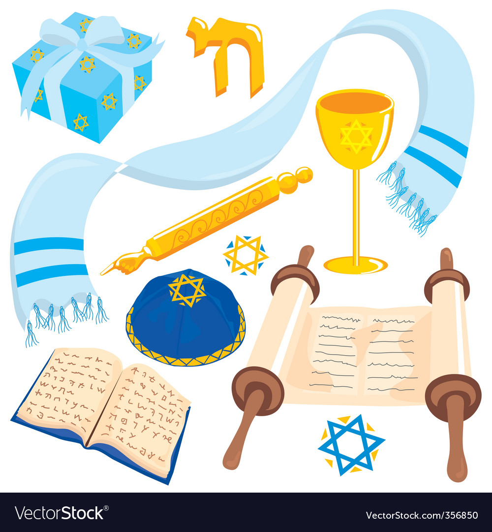 Bar or mat mitzvah icons vector | Price: 3 Credit (USD $3)