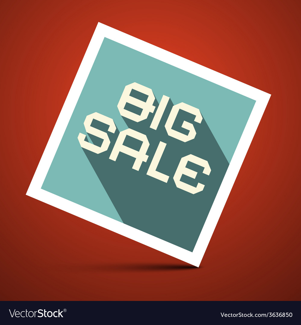 Big sale title on red background vector | Price: 1 Credit (USD $1)