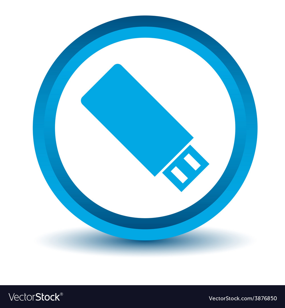 Blue flash drive icon vector | Price: 1 Credit (USD $1)