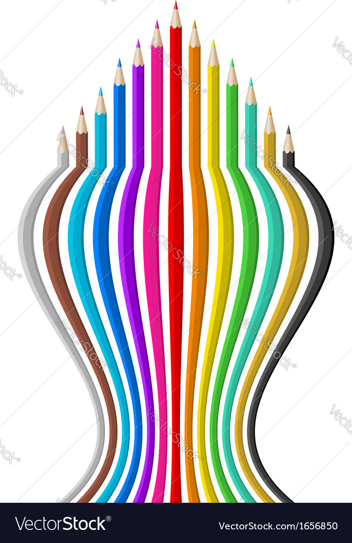 Color pencils vector | Price: 1 Credit (USD $1)
