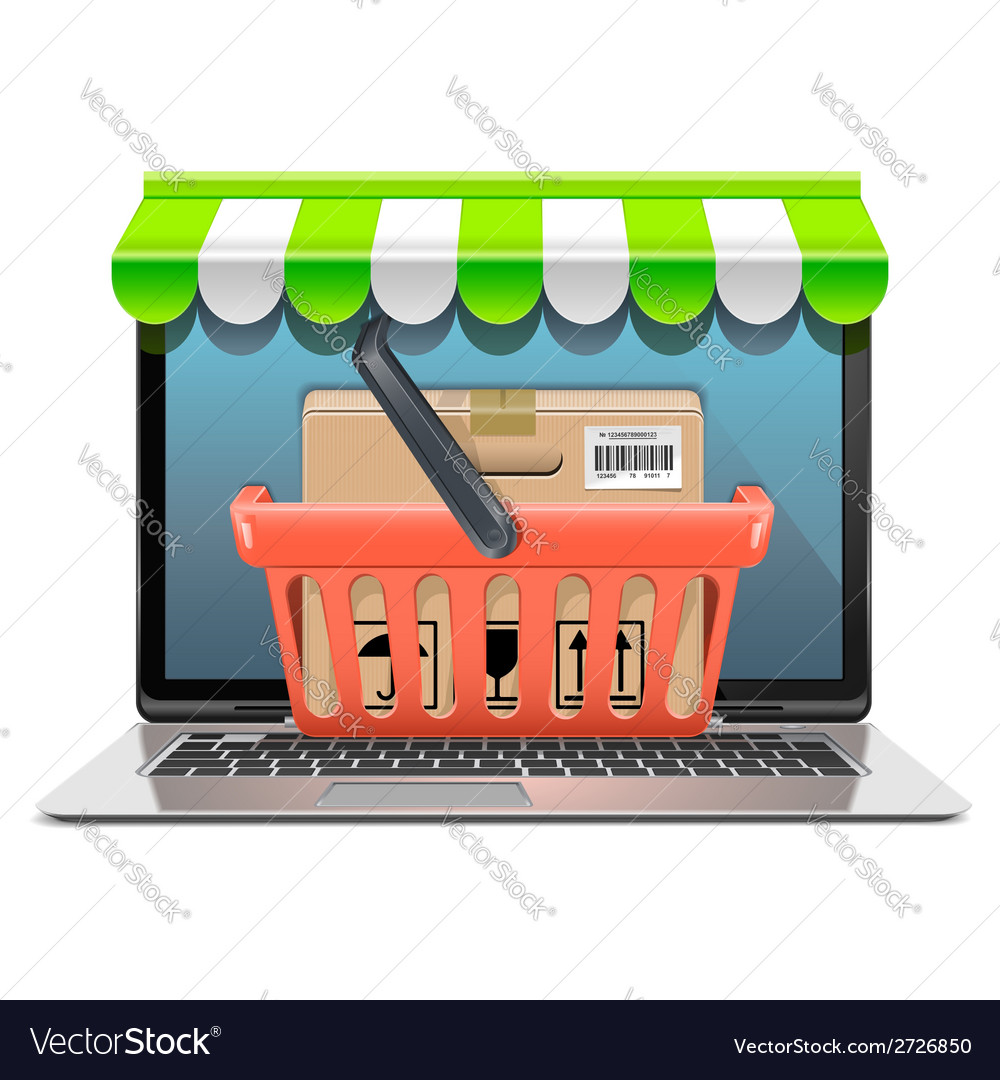 Computer shopping concept vector | Price: 1 Credit (USD $1)