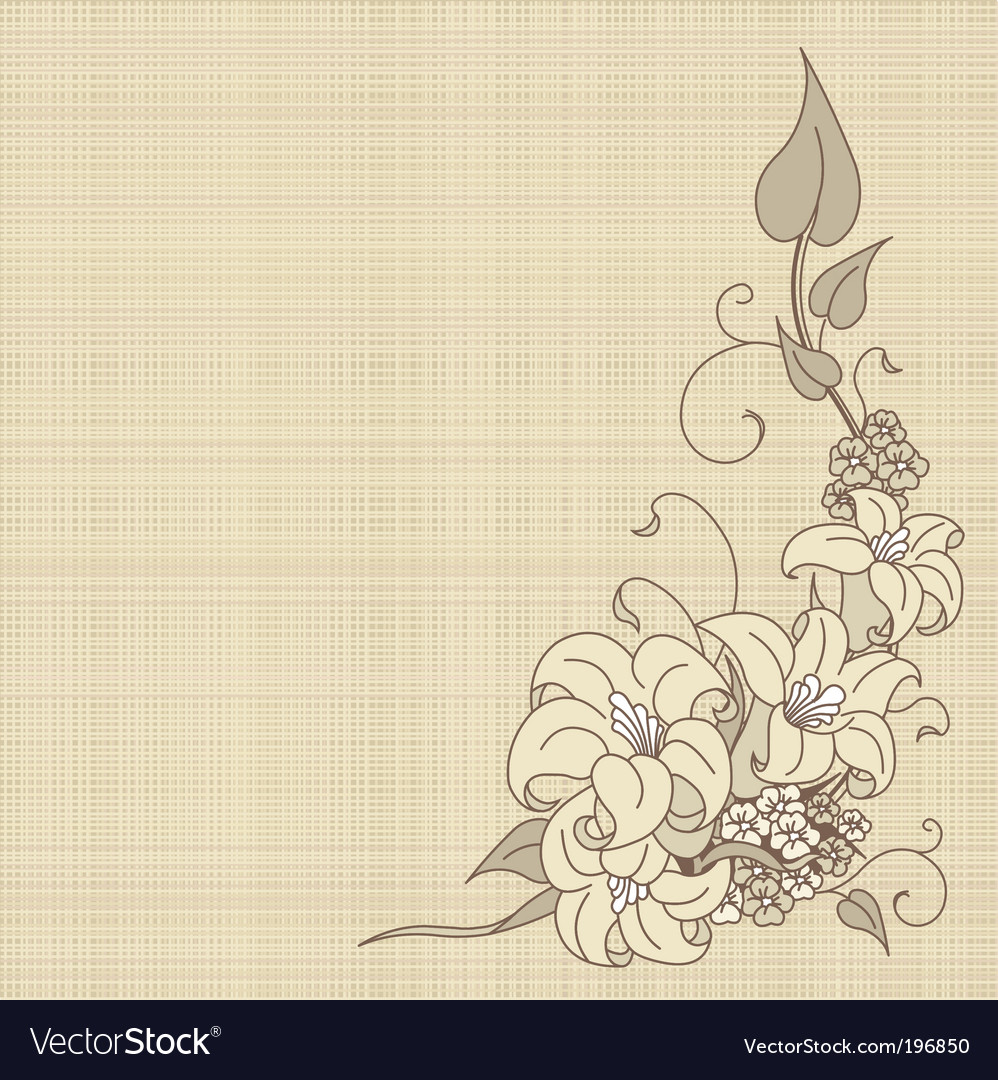 Flowers on canvas vector | Price: 1 Credit (USD $1)